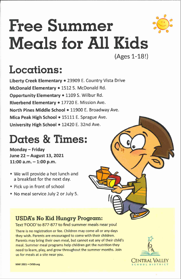 Free Summer Meals for ALL Kids