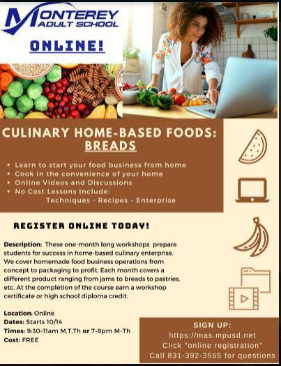 Registration is now open for Culinary Home-Based Foods: Breads Featured Photo