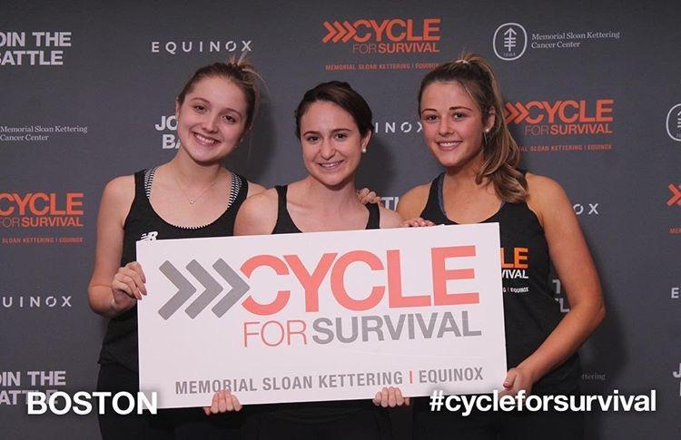 Class of 2015 Alumnae Cycle for Survival in Boston Thumbnail Image