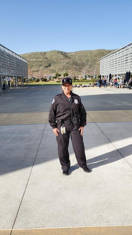 Darlene Sloyer standing on Western Center Academy's campus
