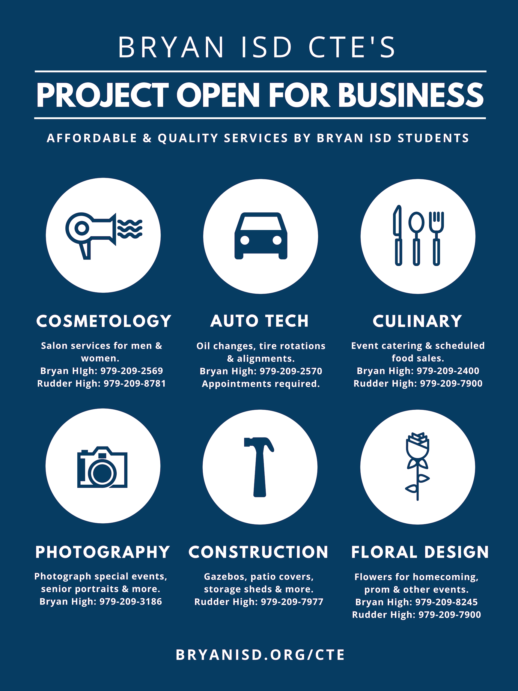 Project Open for Business flyer