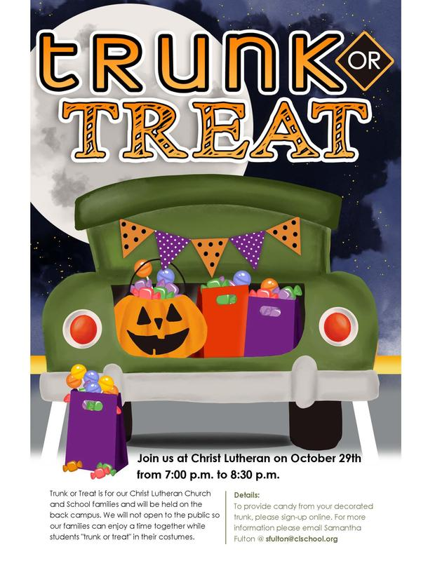 Trunk or Treat- October 29 from 7:00- 8:30 pm Featured Photo