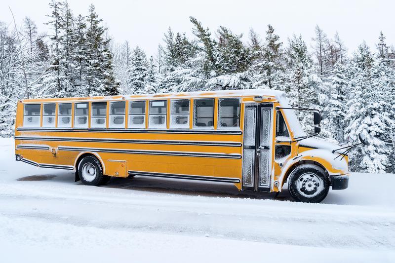Bus Snow picture