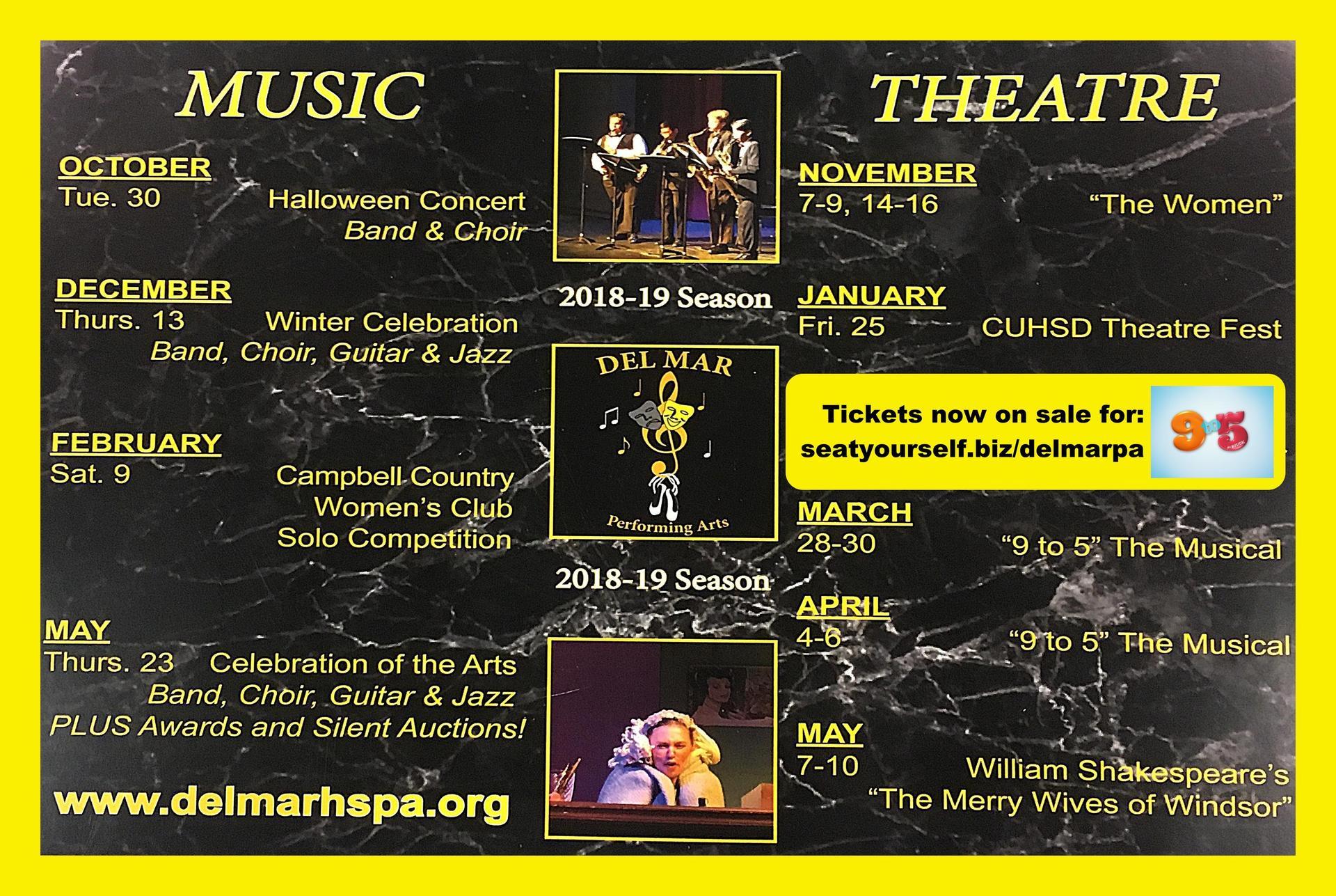 Image of Del Mar Performing Arts Schedule 2018-19