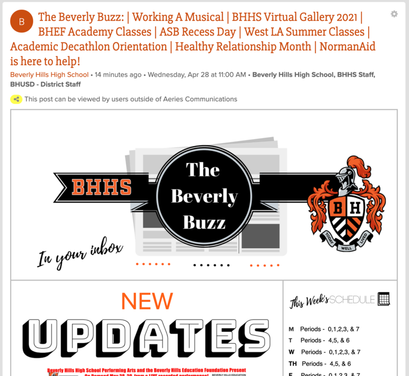 BHHS Newsletter - The Beverly Buzz - April 28, 2021