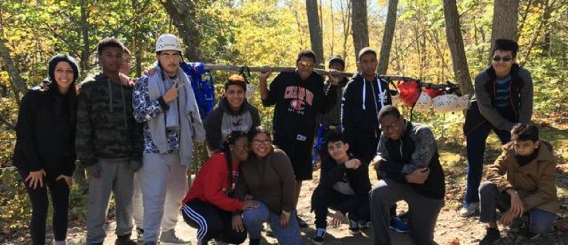 9th graders during their Princeton Blairstown-Center retreat
