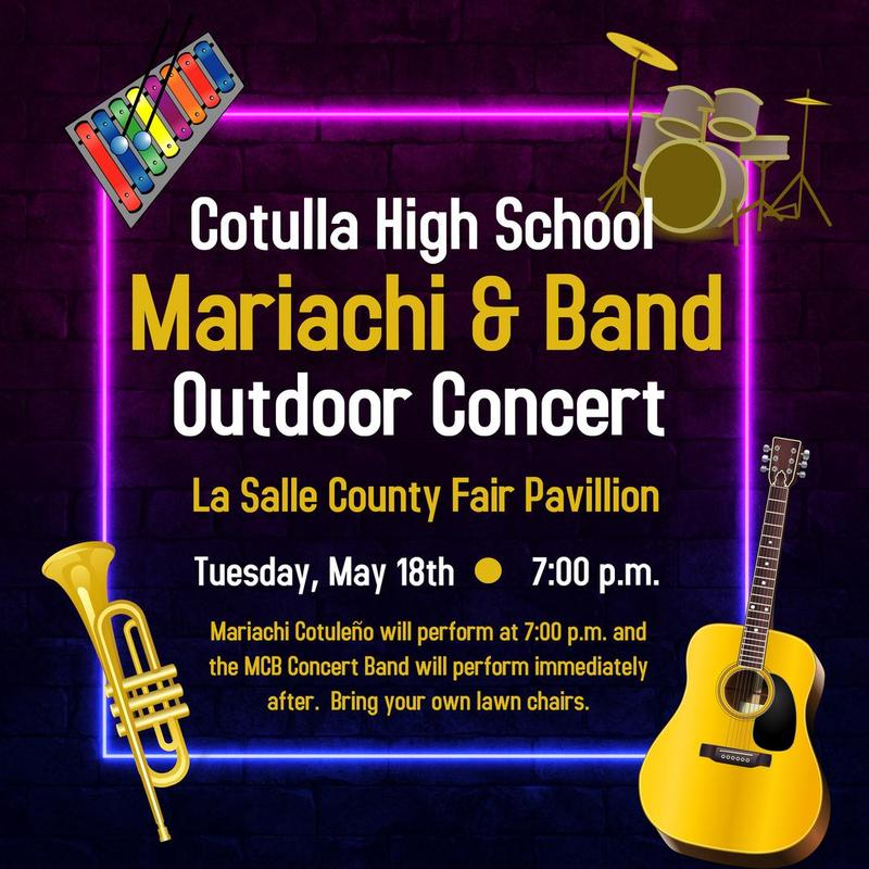 mariachi and band outdoor concert announcement