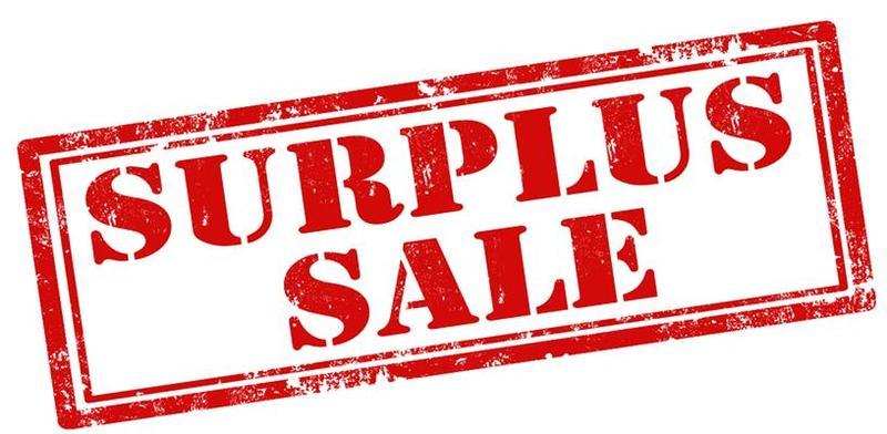 Surplus sale sign