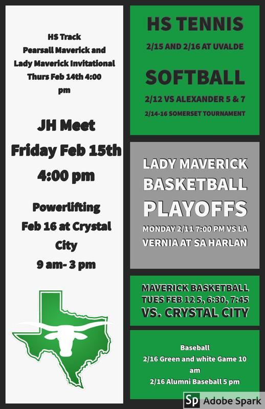 Pearsall Athletics Feb 11th thru Feb 17th Thumbnail Image