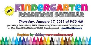 Kindergarten Readiness Seminar flier