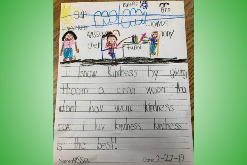 Alyssa, writes about how 'Kindness Rox (Rocks)'