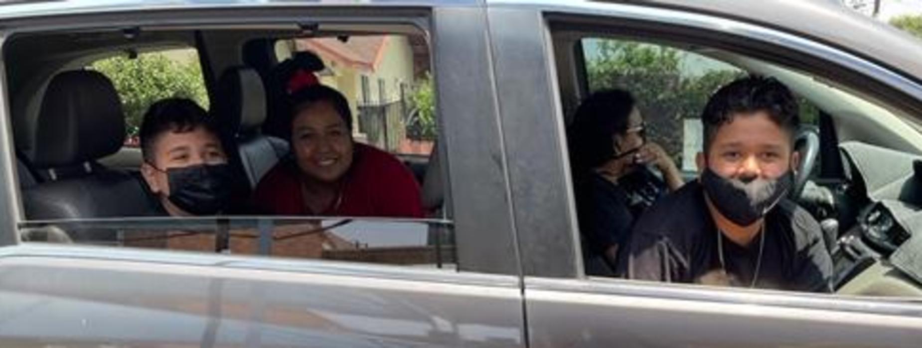 Marguerita students during Drive-Thru event