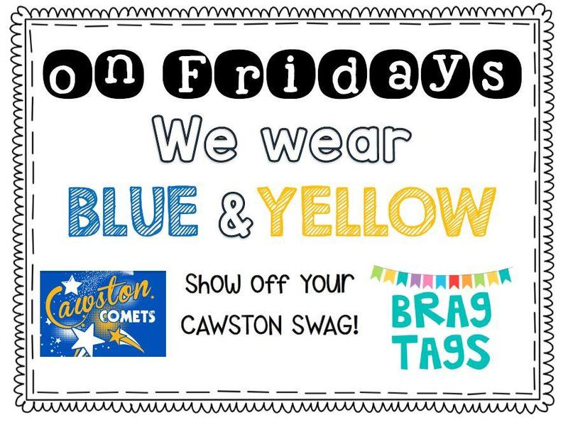 wear blue and yellow