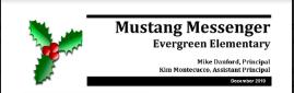 December Mustang Messenger