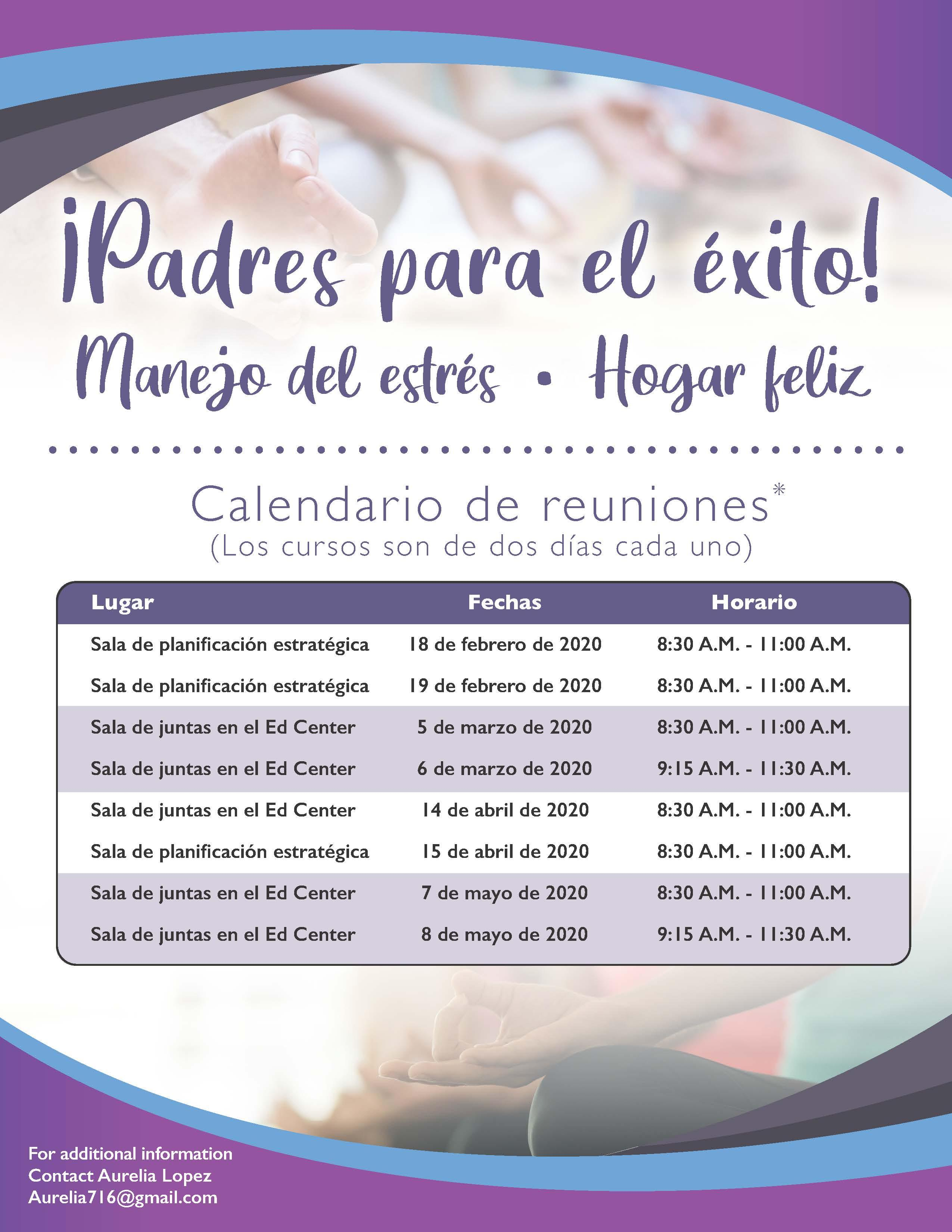 Parenting for Success Flyer in Spanish