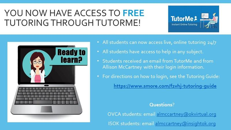 OVCA Offers Free Tutoring to ALL students! Featured Photo