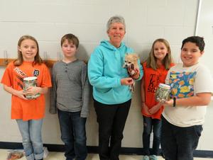 Page students make donations to charities.
