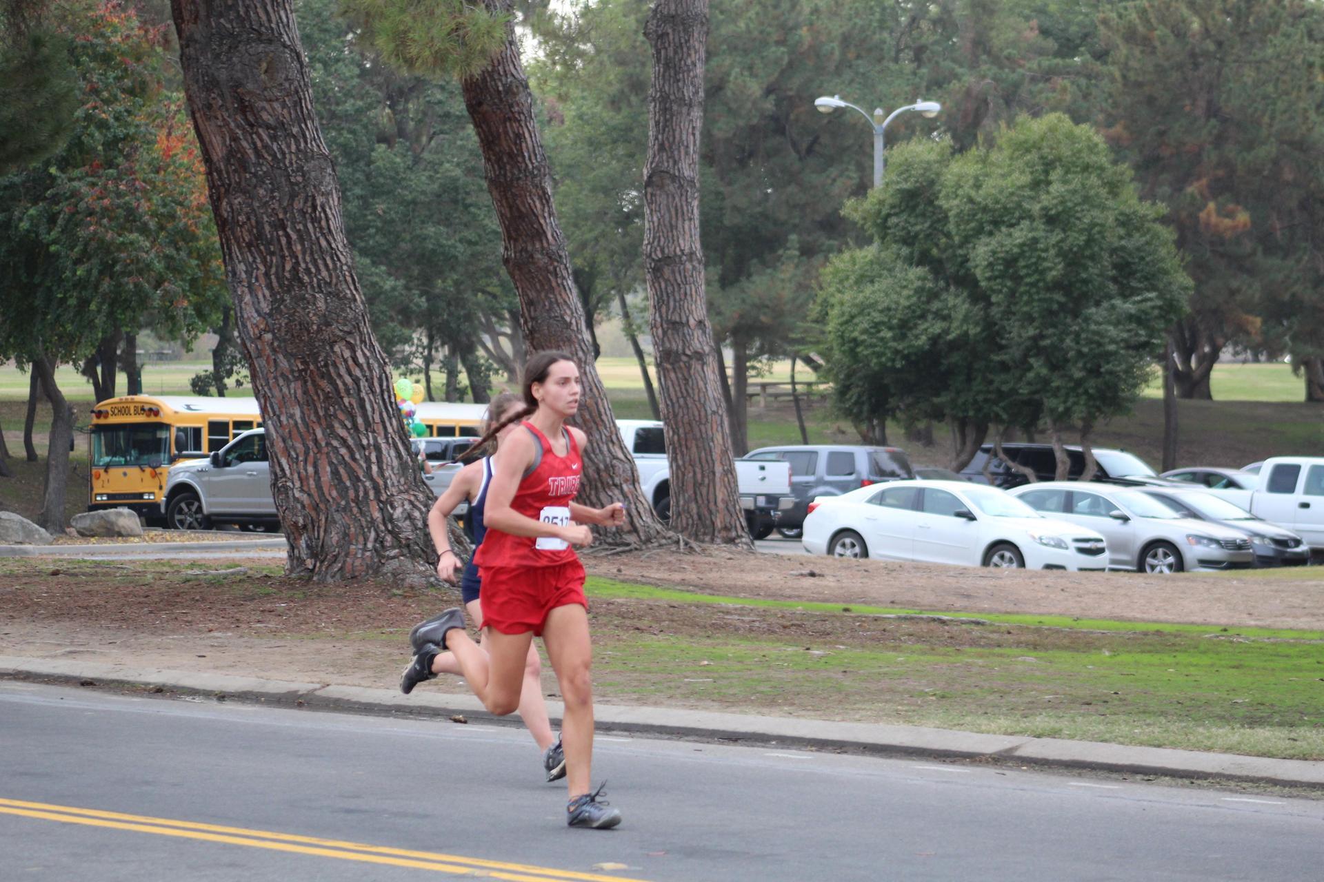 Josephine Moore finishing