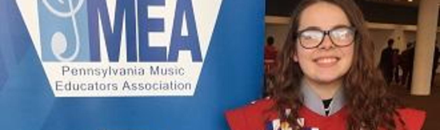 Katie Ponder with the opportunity to participate in PMEA All State Band.