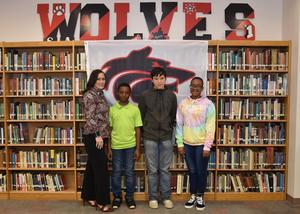 middle school march students of the month