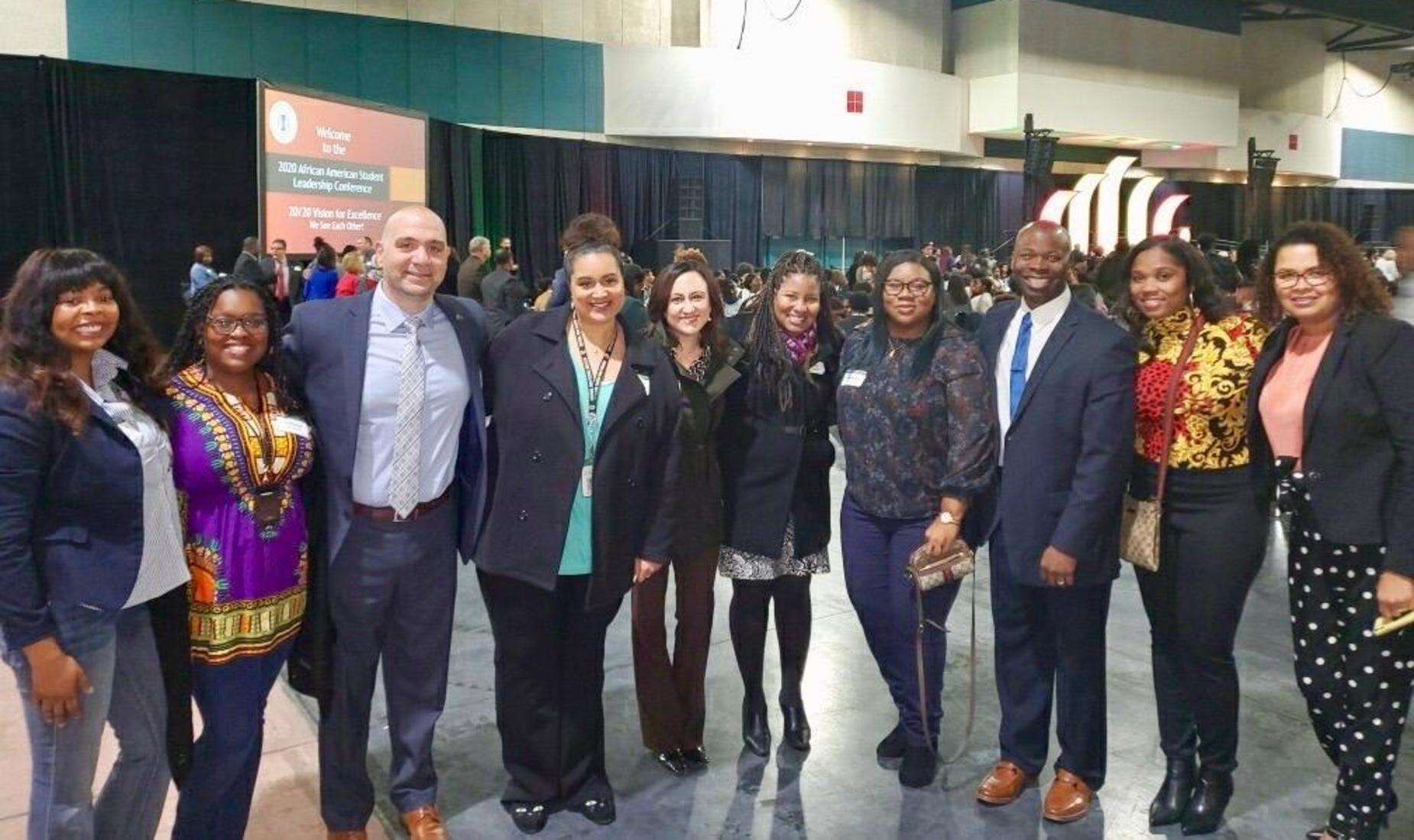 Central Unified staff at the 2020 African-American Leadership Conference