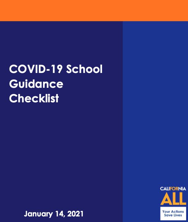Screenshot of COVID-19 School Guidance Checklist cover