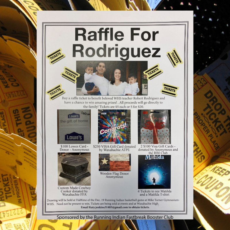 poster for Raffle for Robert Rodriguez