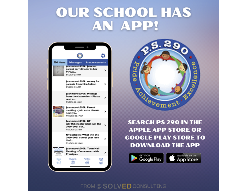 A pdf image that is showing a flier for the school app that we are informing the parents about