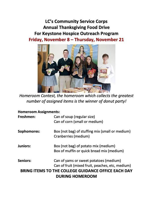 Thanksgiving Food Drive For Keystone Hospice Featured Photo