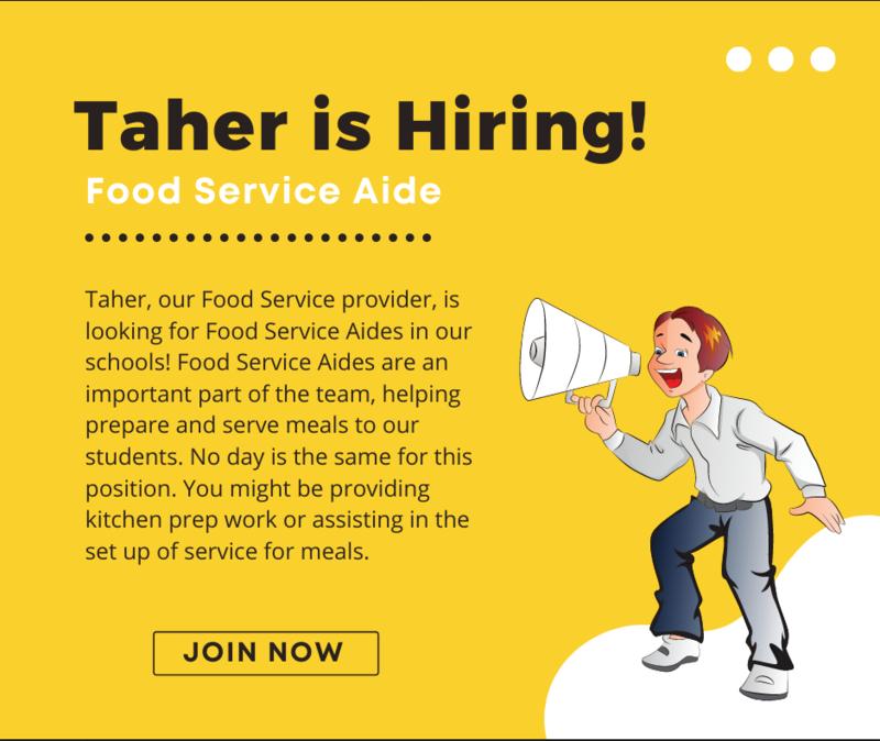 Tahar is Hiring Poster