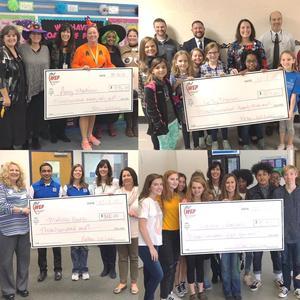 pictures of four teachers receiving mini-grants