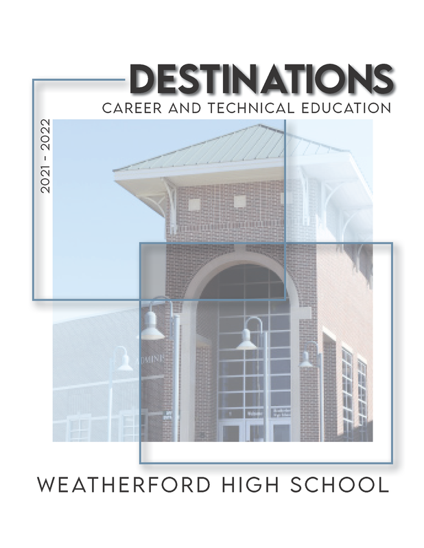 WHS Cover of Destinations Magazine featuring Career & Technology Courses