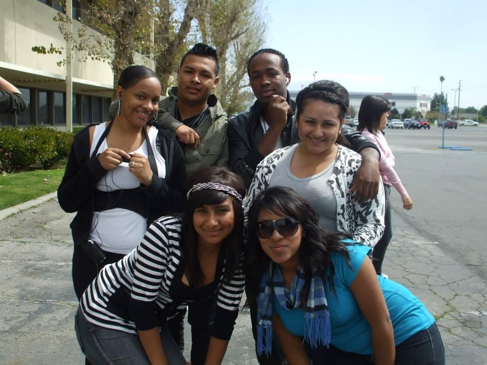 San Bernardino students pose for a group photo