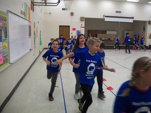 Students at the Fun Run.