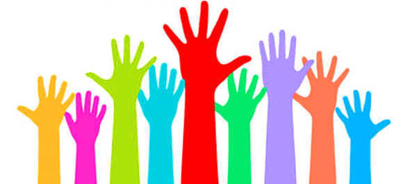 Graphic of hands in the air