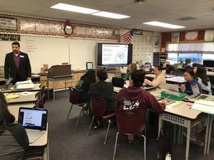 Pantera teachers meet in class with dr. scorzo
