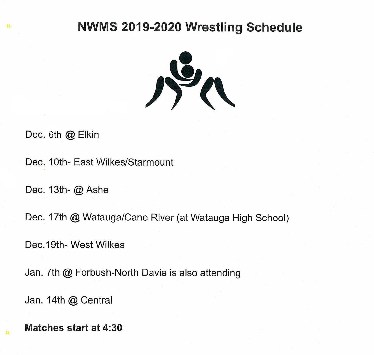 Wrestling Schedule