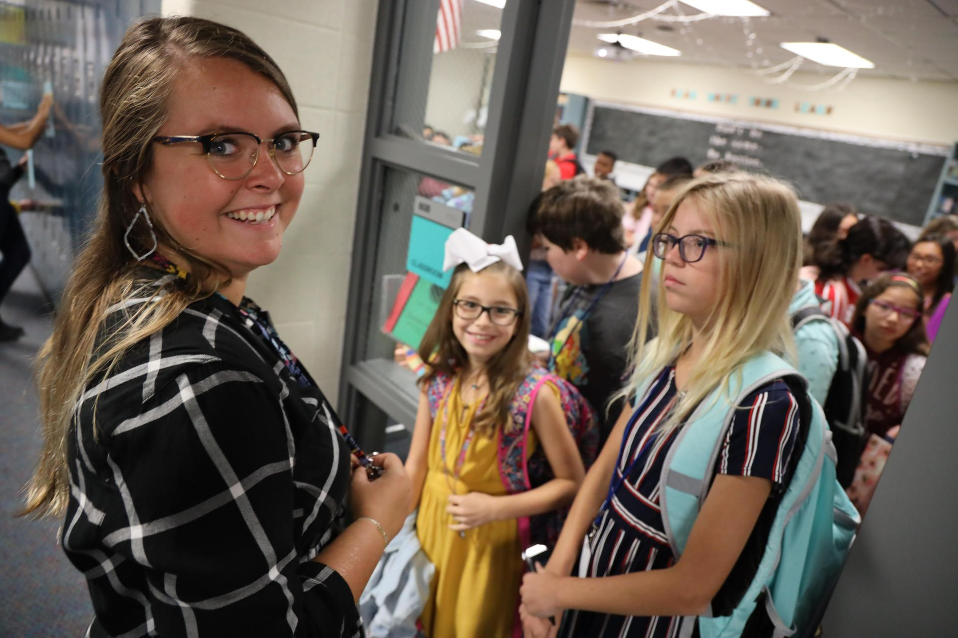 Fairmont Junior High students on the first day of school!