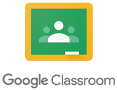 Google Classroom logo, three stick figures