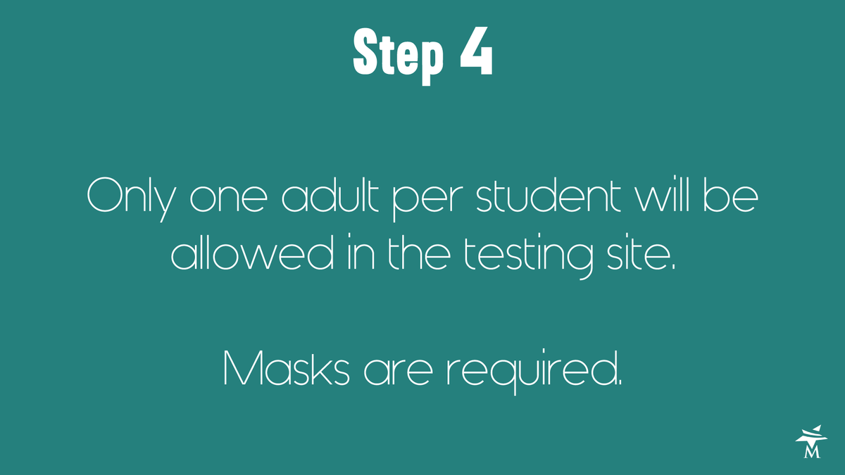 What to expect at the testing site step 4