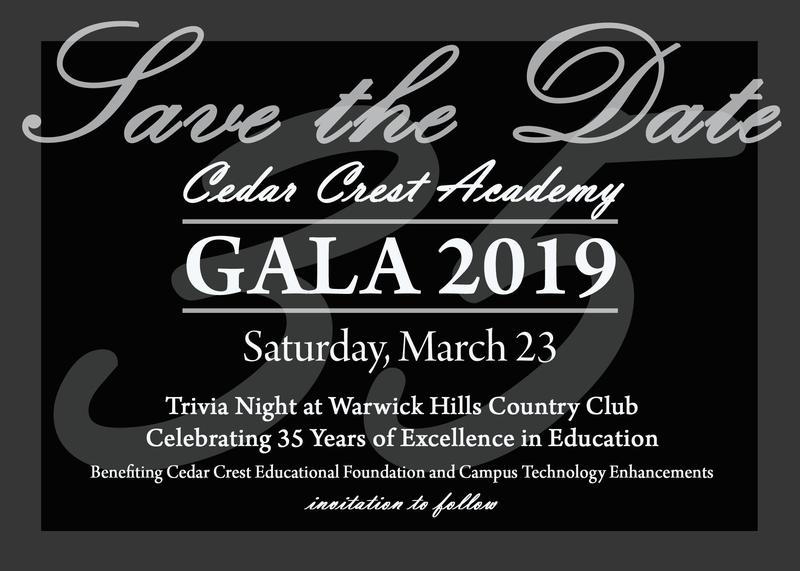 Save the Date for the Cedar Crest Academy 2019 Gala Featured Photo