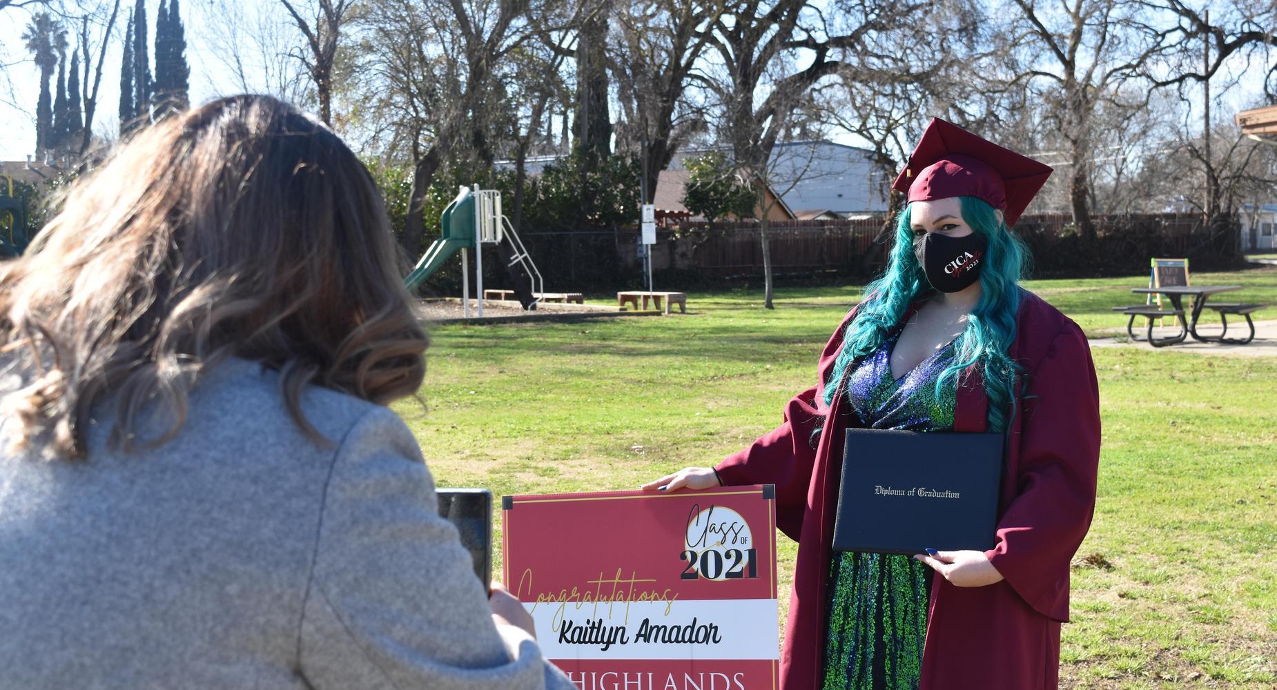 CICA Graduate posing for photo