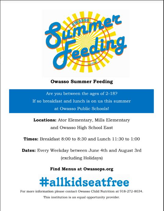 Summer Feeding- breakfast and lunch