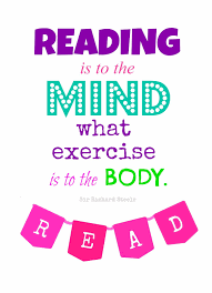 reading is to the mind what exercise is to the body