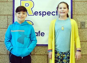 Mars Area Elementary School students Camden Carrabba and Abigail Schirato were named winners in the 2018-2019 PLCB Alcohol Awareness Poster Contest.