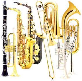 picture of band instruments