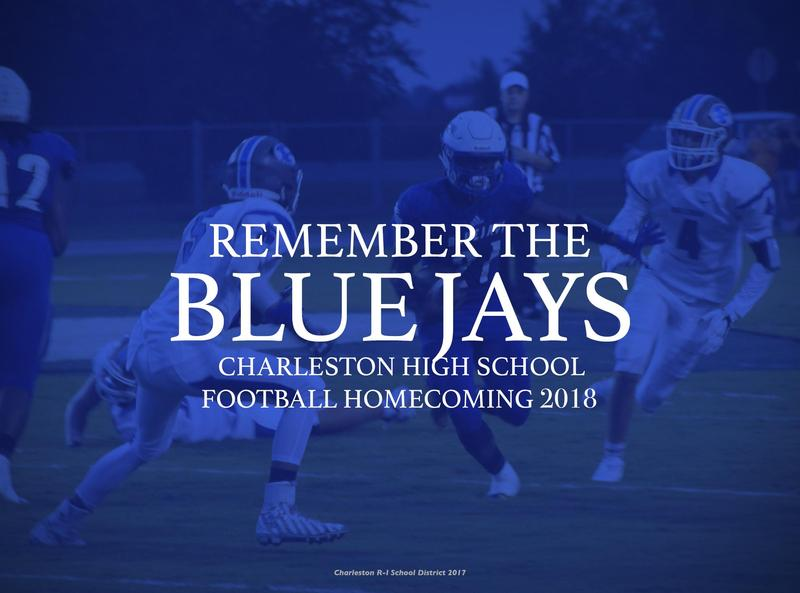 Charleston Blue Jays Homecoming 2018 title