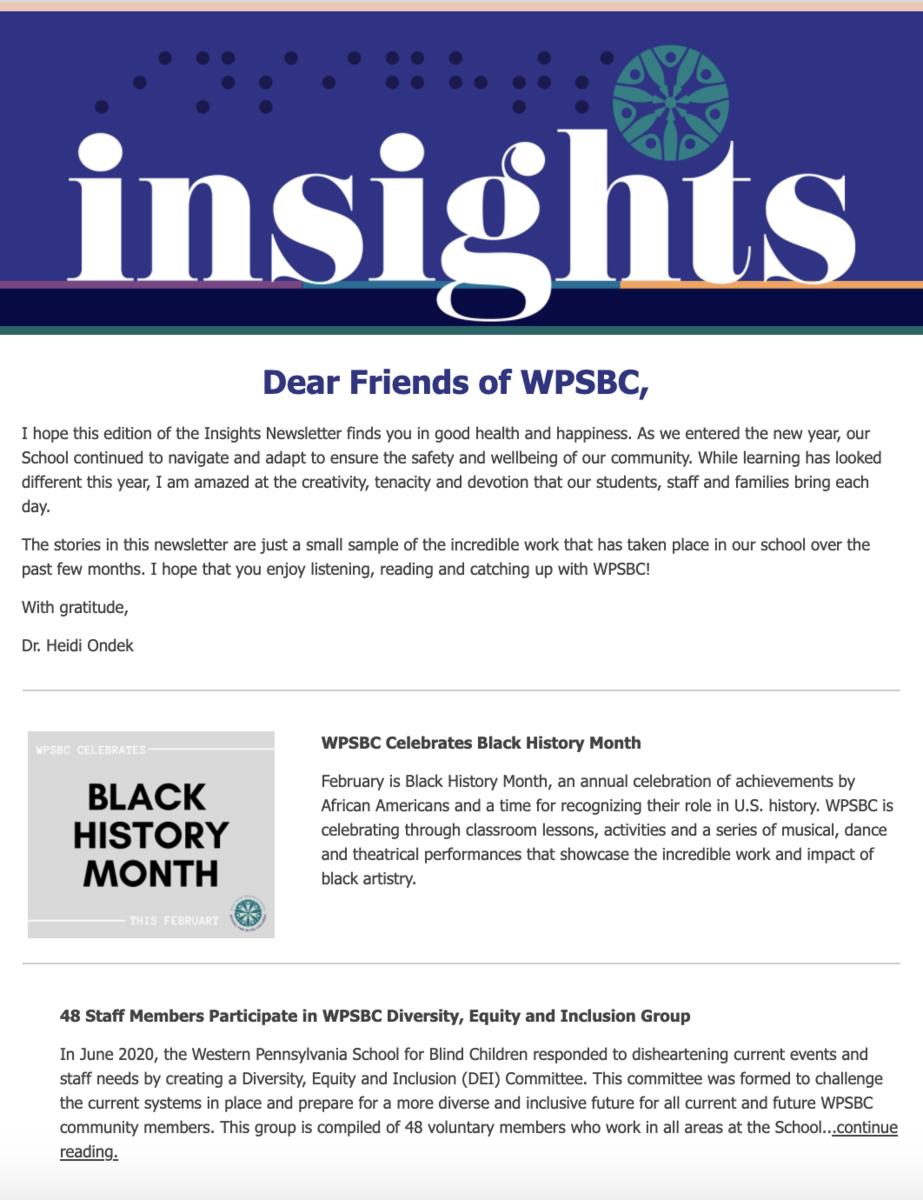 Insights Digital Newsletter Screenshot