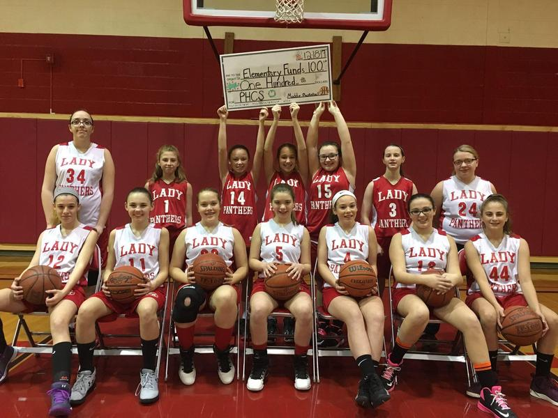 Image of girls' basketball team