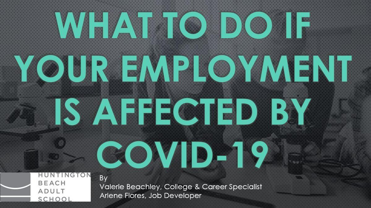 COVID-19 and Unemployment Benefits
